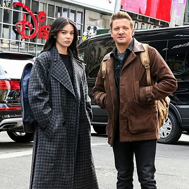 Jeremy Renner and Hailee Steinfeld in Hawkeye (2021)