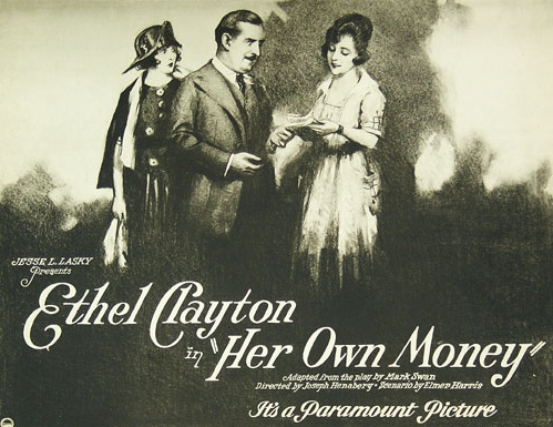 Mae Busch, Ethel Clayton, and Charles K. French in Her Own Money (1922)