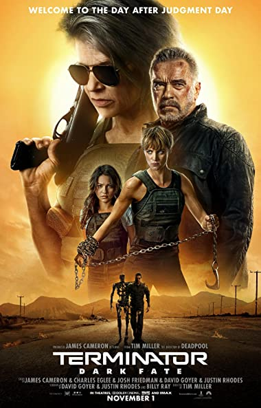 Poster of Terminator: Dark Fate 2019 Full Hindi Free Download Watch Online In HD Movie Download 480p HDRip