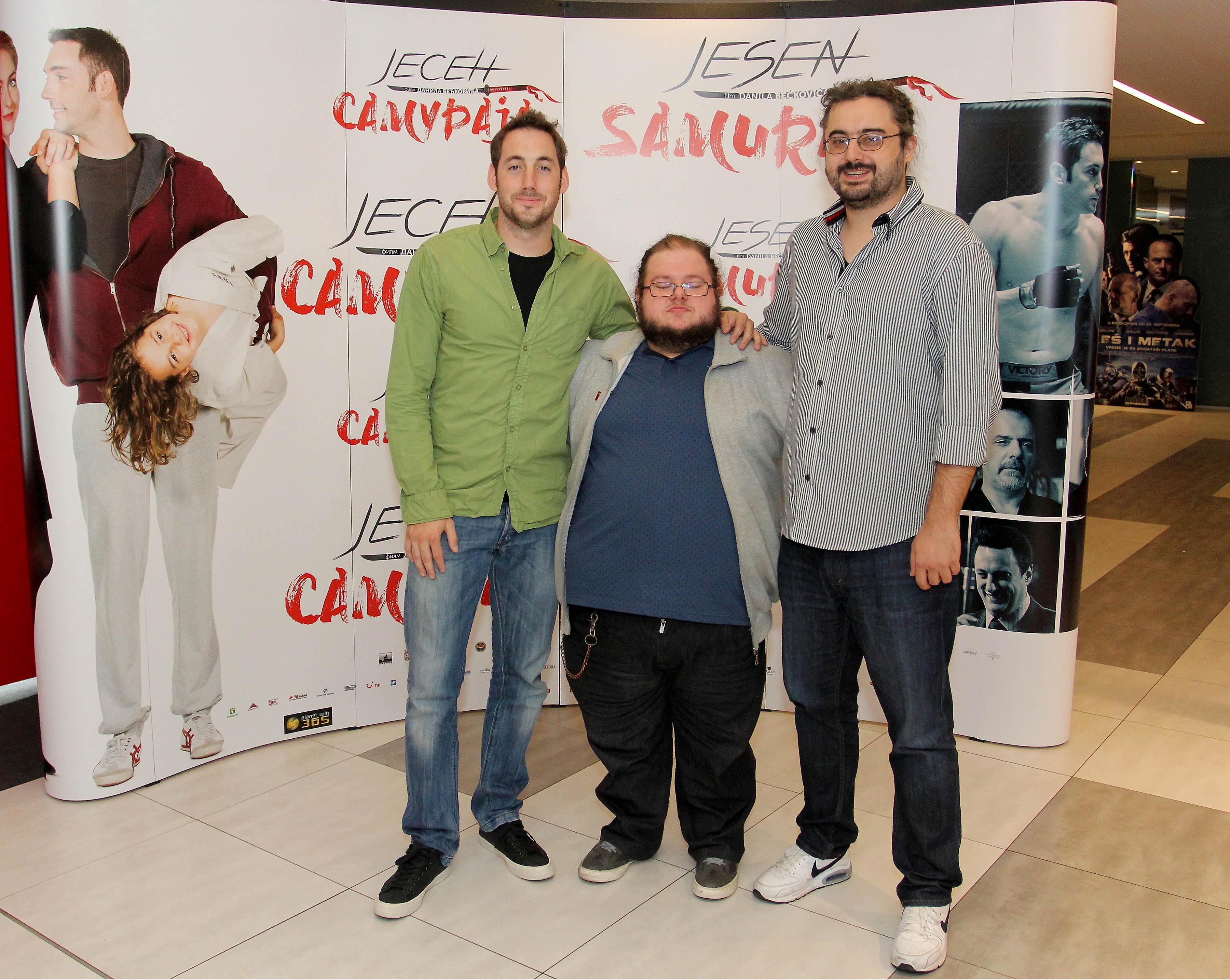 Dimitrije Vojnov, Danilo Beckovic, and Petar Strugar in Jesen samuraja (2016)