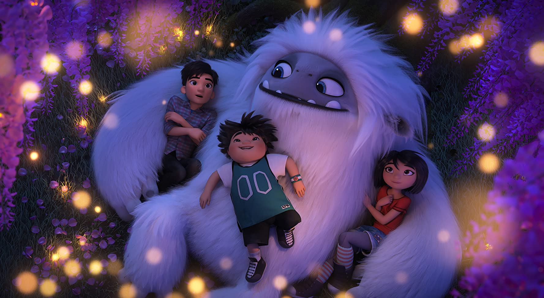 Chloe Bennet, Albert Tsai, and Tenzing Norgay Trainor in Abominable (2019)