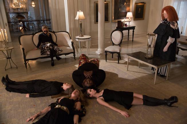 Sarah Paulson, Frances Conroy, Emma Roberts, Lily Rabe, Gabourey Sidibe, and Taissa Farmiga in American Horror Story (2011)