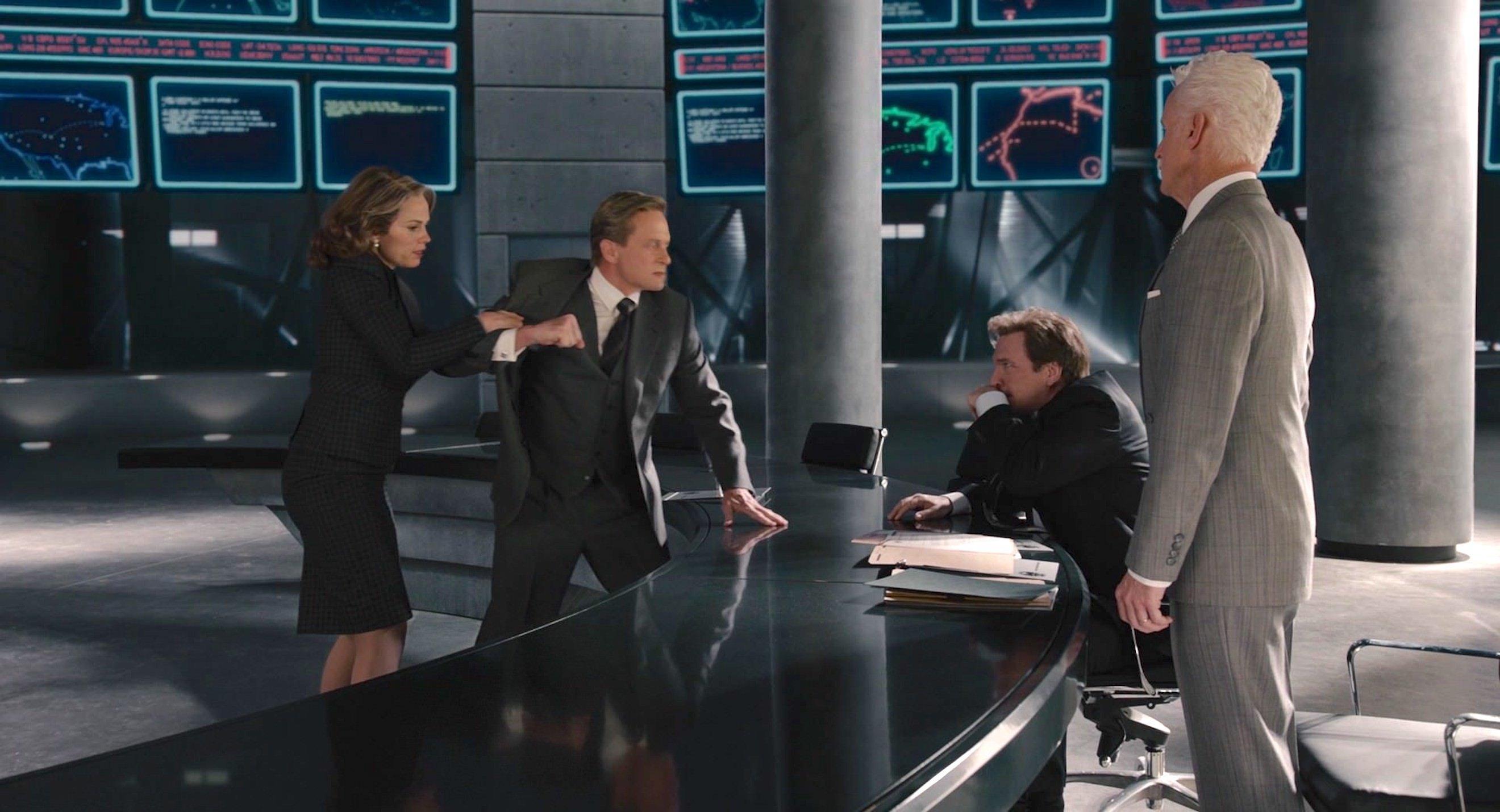 Michael Douglas, Martin Donovan, John Slattery, and Hayley Atwell in Ant-Man (2015)