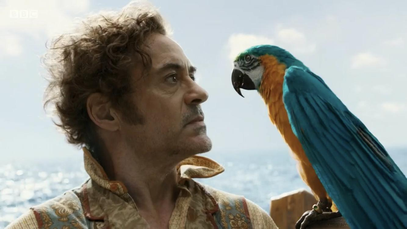 Robert Downey Jr. and Emma Thompson in Dolittle (2020)