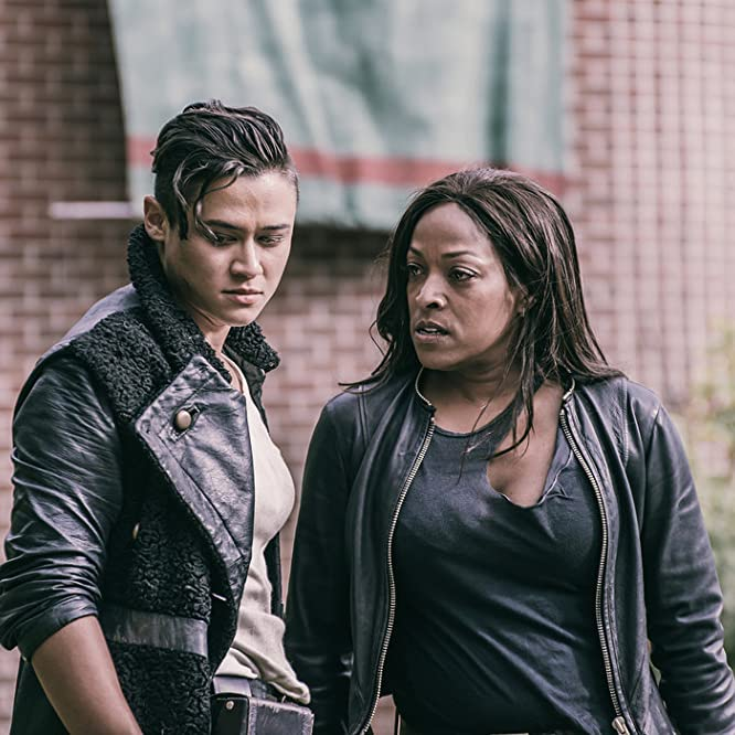 Kellita Smith and Katy M. O'Brian in Z Nation (2014)