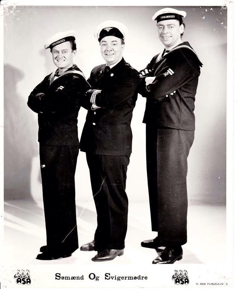 Dirch Passer, Kjeld Petersen, and Ove Sprogøe in Sømænd og svigermødre (1962)