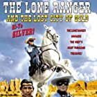 Clayton Moore, Jay Silverheels, and Silver in The Lone Ranger and the Lost City of Gold (1958)