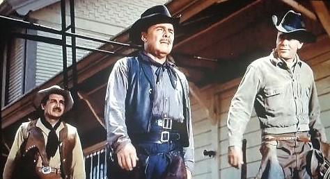 Glenn Ford, Brian Donlevy, and Víctor Manuel Mendoza in Cowboy (1958)