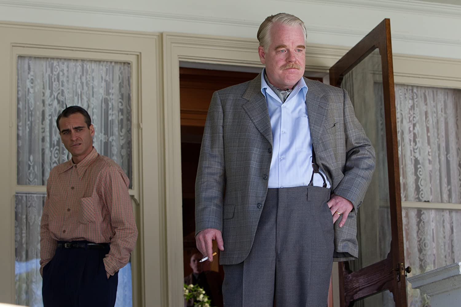 Philip Seymour Hoffman and Joaquin Phoenix in The Master (2012)