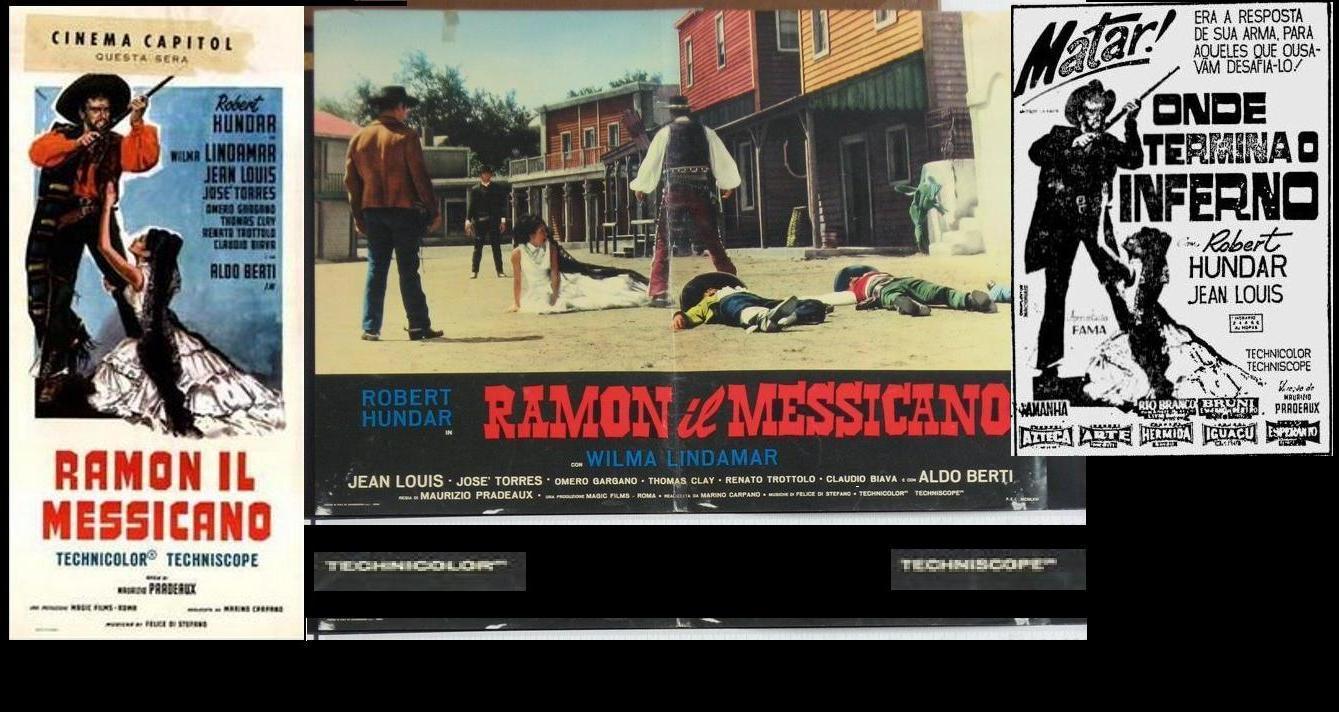 Vilma Lindamar, Jean Louis, and Robert Hundar in Ramon il Messicano (1966)
