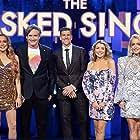 Osher Günsberg, Dave Hughes, Lindsay Lohan, Dannii Minogue, and Jackie O in The Masked Singer Australia (2019)
