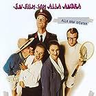 Peter Dalle, Claes Månsson, Suzanne Reuter, Ulla Skoog, and Johan Ulveson in Yrrol - En kolossalt genomtänkt film (1994)