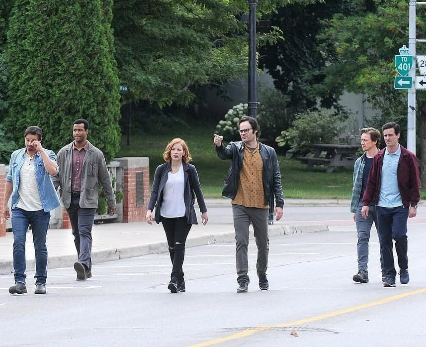 Bill Hader, James McAvoy, James Ransone, Jay Ryan, Jessica Chastain, and Isaiah Mustafa in It: Chapter Two (2019)