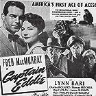 Charles Bickford, Richard Conte, Lynn Bari, Fred MacMurray, and Lloyd Nolan in Captain Eddie (1945)