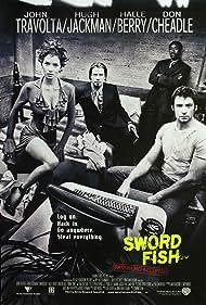 John Travolta, Don Cheadle, Halle Berry, and Hugh Jackman in Swordfish (2001)