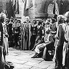 John Derek, Alan Hale, Paul Cavanagh, George Macready, and Donald Randolph in Rogues of Sherwood Forest (1950)