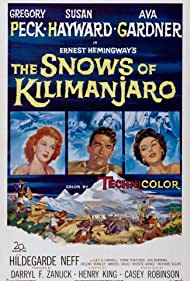 Gregory Peck, Ava Gardner, and Susan Hayward in The Snows of Kilimanjaro (1952)