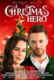 Michael Welch and Lauren Rys Martin in A Christmas Hero (2020)
