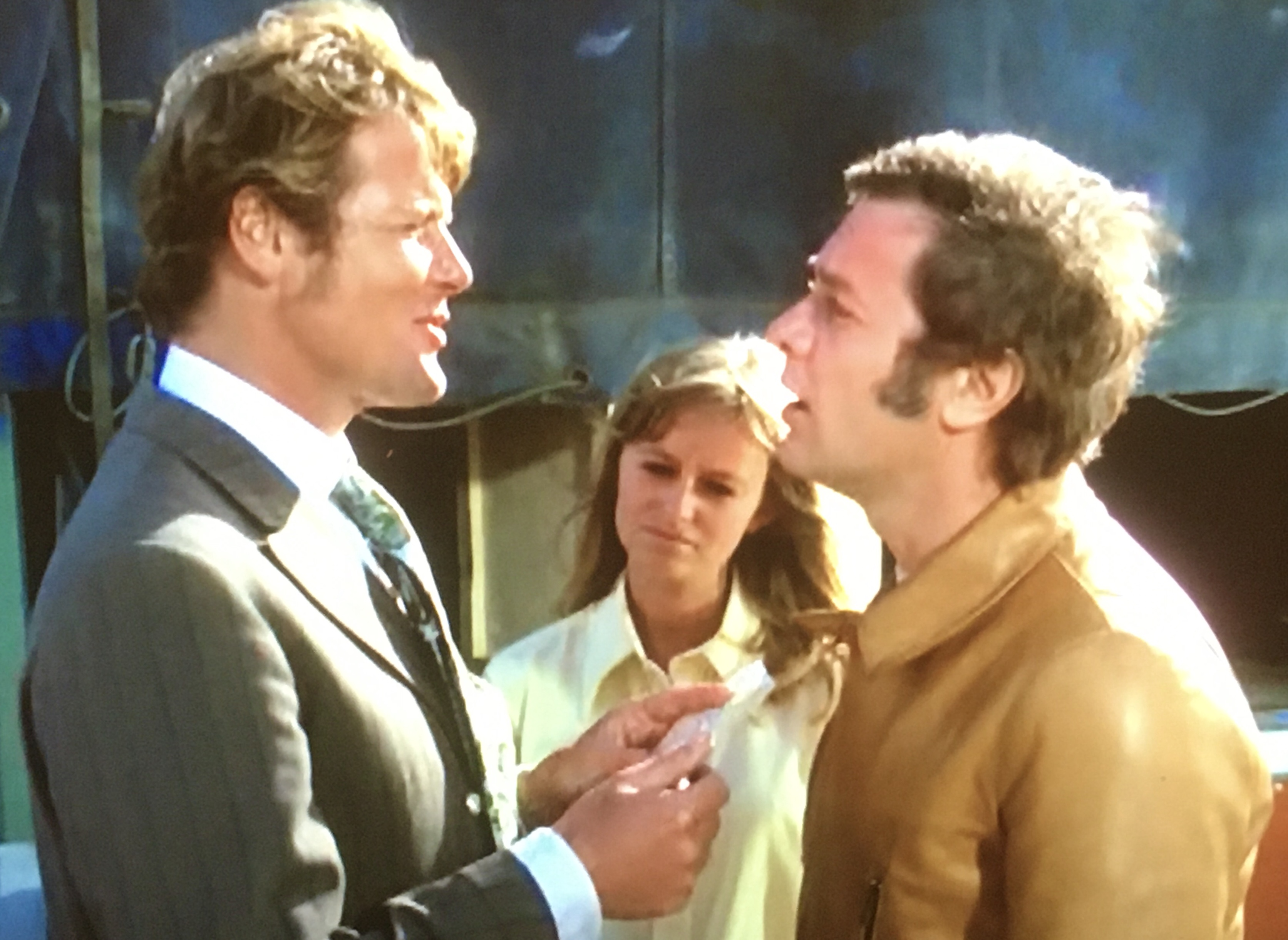 The Persuaders Roger Moore Tony Curtis Door Poster b//w