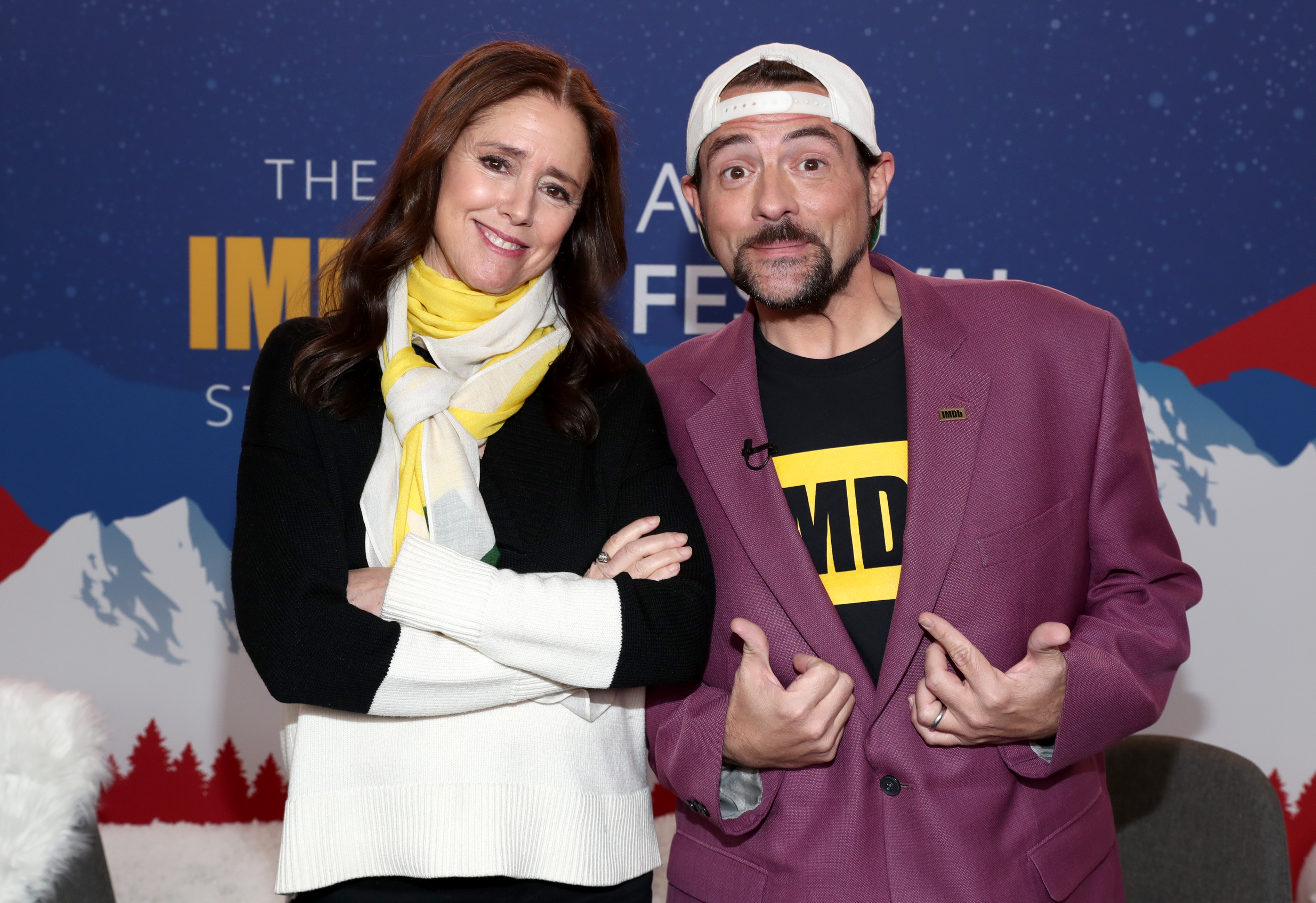Kevin Smith and Julie Taymor at an event for The IMDb Studio at Acura Festival Village (2020)