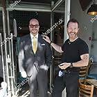 Jonathan Sothcott & Nick Moran on the set of Renegades