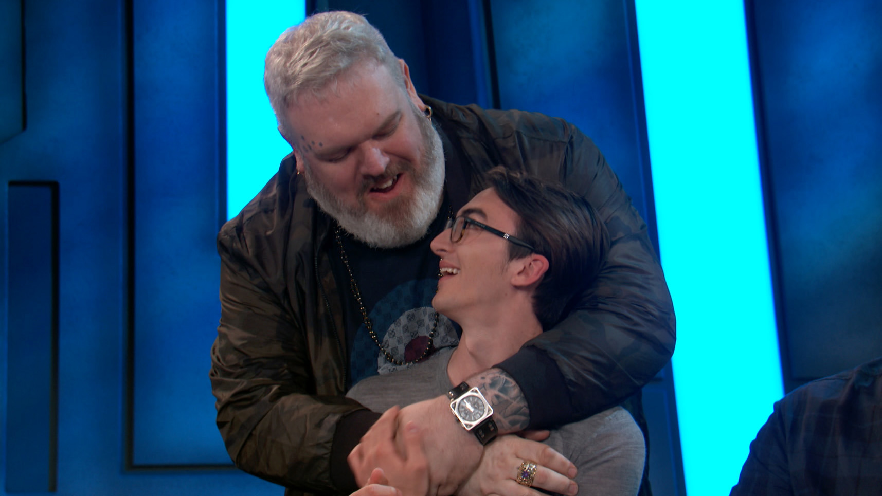 Isaac Hempstead Wright and Kristian Nairn in Conan (2010)