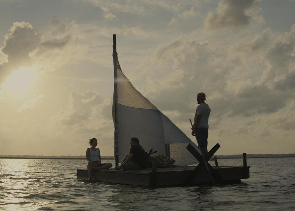 Dakota Johnson, Shia LaBeouf, and Zack Gottsagen in The Peanut Butter Falcon (2019)