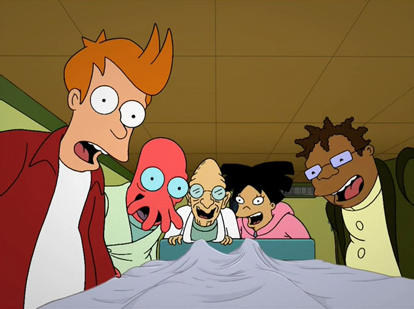 John DiMaggio, Phil LaMarr, Lauren Tom, and Billy West in Futurama (1999)