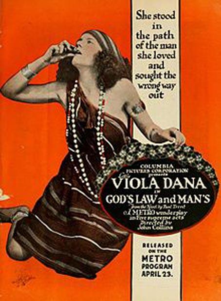 Viola Dana in God's Law and Man's (1917)