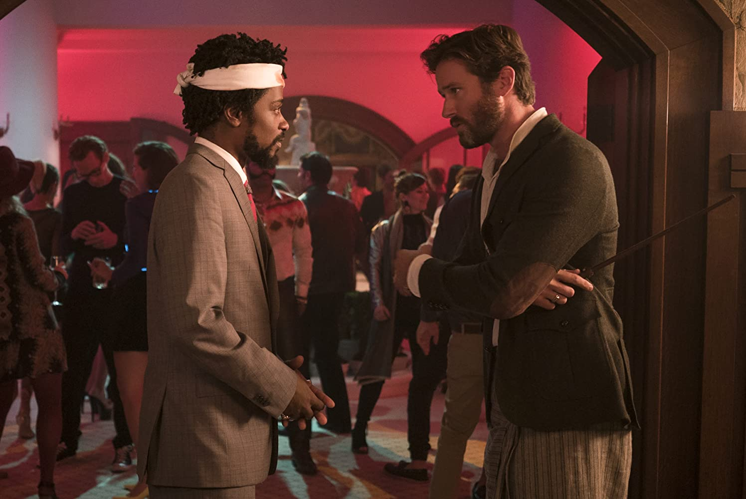 Armie Hammer and Lakeith Stanfield in Sorry to Bother You (2018)