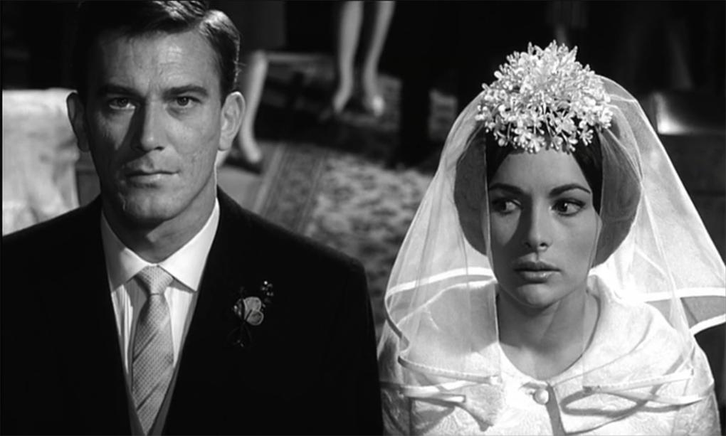 Karin Dor and Hellmut Lange in Der Fälscher von London (1961)