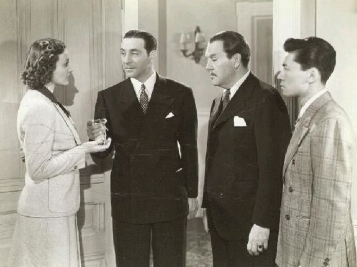Ricardo Cortez, Phyllis Brooks, Sidney Toler, and Victor Sen Yung in Charlie Chan in Reno (1939)