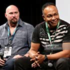 Ray Parker Jr. and Fran Strine at an event for Hired Gun (2016)