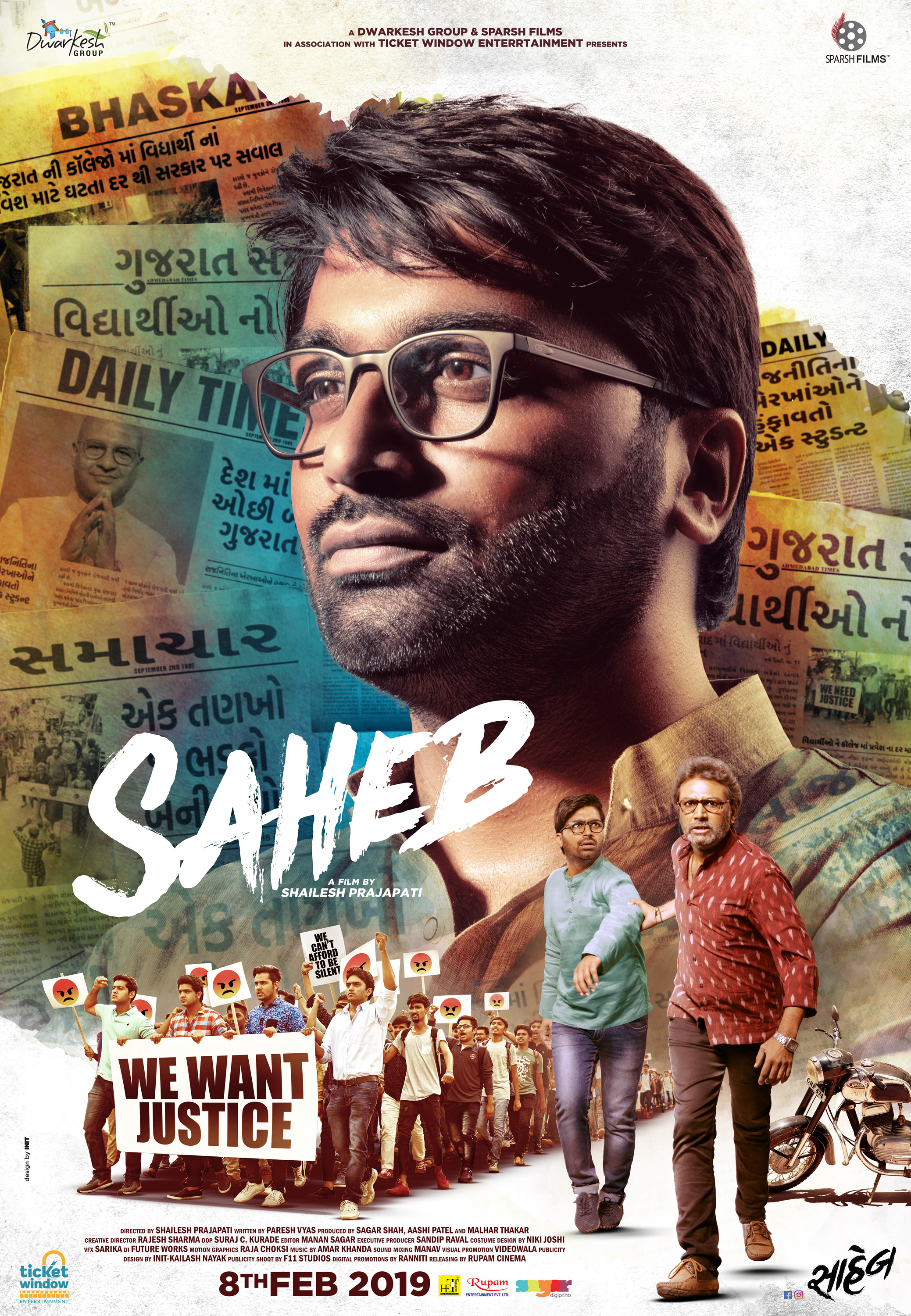 Saheb 2019 Movie WebRip Gujarati 400mb 480p 1.2GB 720p