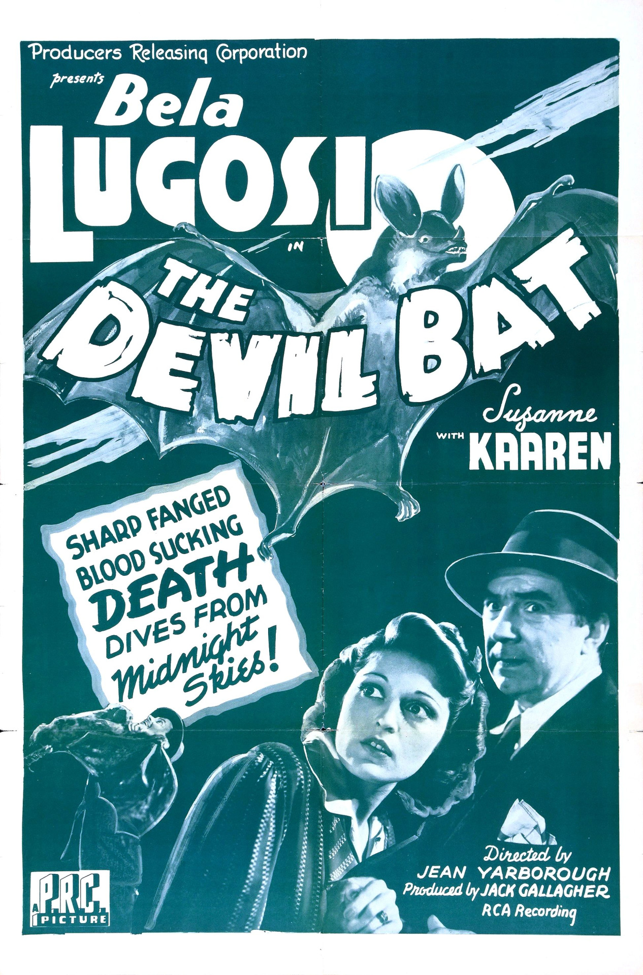 Bela Lugosi and Suzanne Kaaren in The Devil Bat (1940)