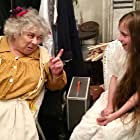 Dixie Egerickx with Miriam Margolyes on the set of MIRETTE, London, December 2016.