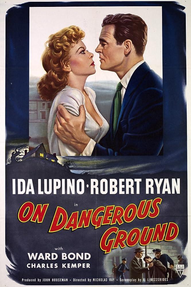 Ida Lupino and Robert Ryan in On Dangerous Ground (1951)