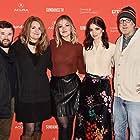 Haley Joel Osment, Chris Elliott, Abby Elliott, Bridey Elliott, and Paula Niedert Elliott at an event for Clara's Ghost (2018)