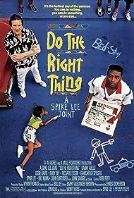 Samuel L. Jackson, Spike Lee, Danny Aiello, Ossie Davis, John Turturro, Ruby Dee, Giancarlo Esposito, and Bill Nunn in Do the Right Thing (1989)