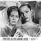 Sara Montiel and Dalia Íñiguez in Frente al pecado de ayer (1955)