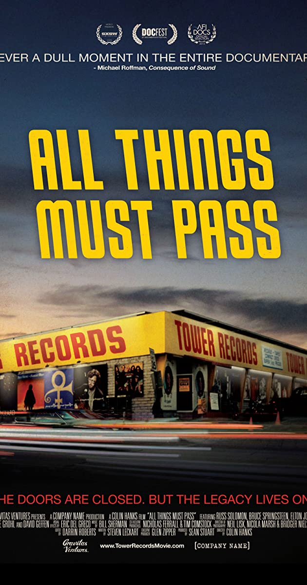 Subtitle of All Things Must Pass: The Rise and Fall of Tower Records