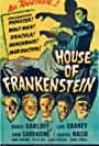 Boris Karloff, John Carradine, Lon Chaney Jr., J. Carrol Naish, and Glenn Strange in House of Frankenstein (1944)
