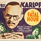 Boris Karloff, Marjorie Reynolds, and Grant Withers in The Fatal Hour (1940)