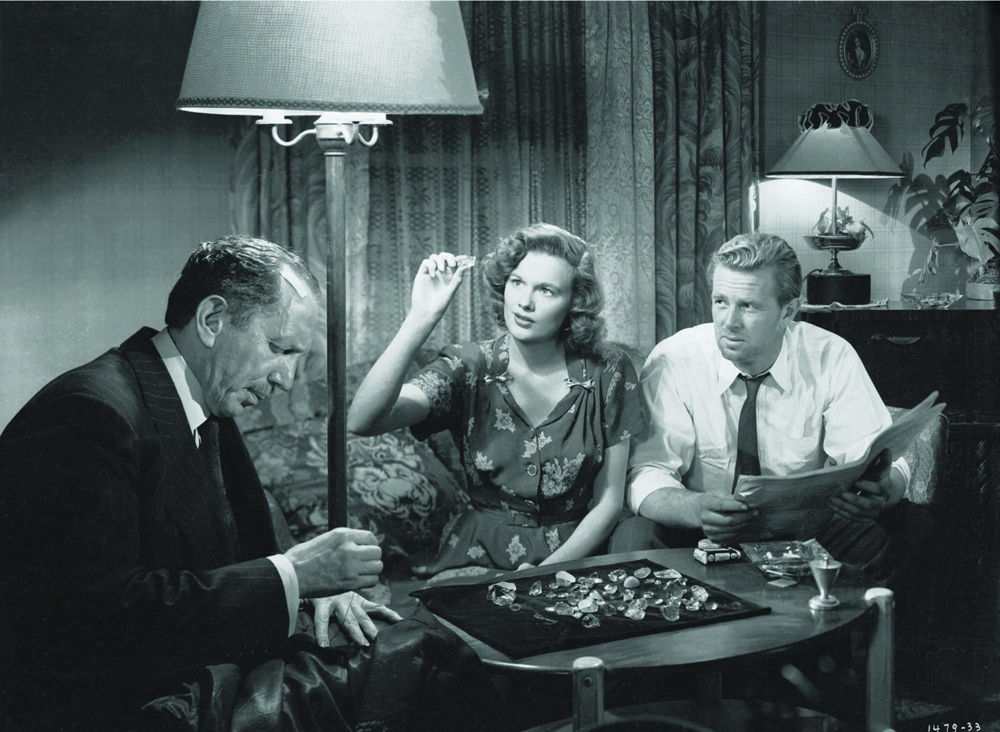 Sterling Hayden, Jean Hagen, and Sam Jaffe in The Asphalt Jungle (1950)