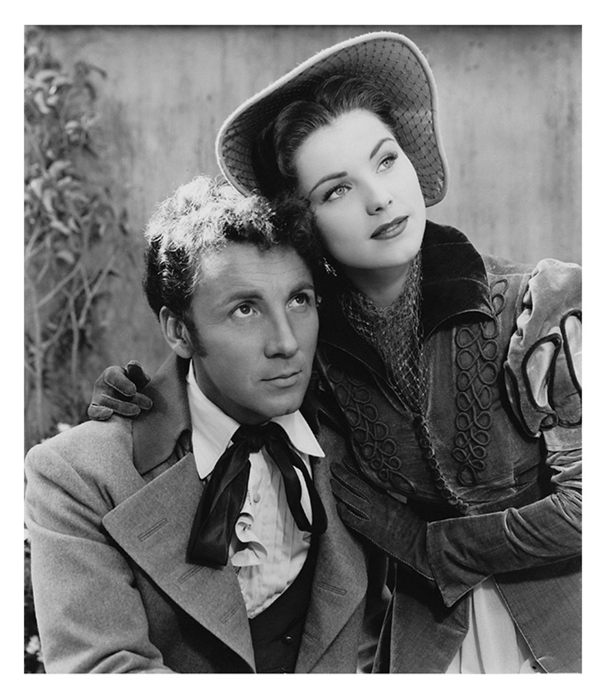 Cameron Mitchell and Debra Paget in Les Miserables (1952)