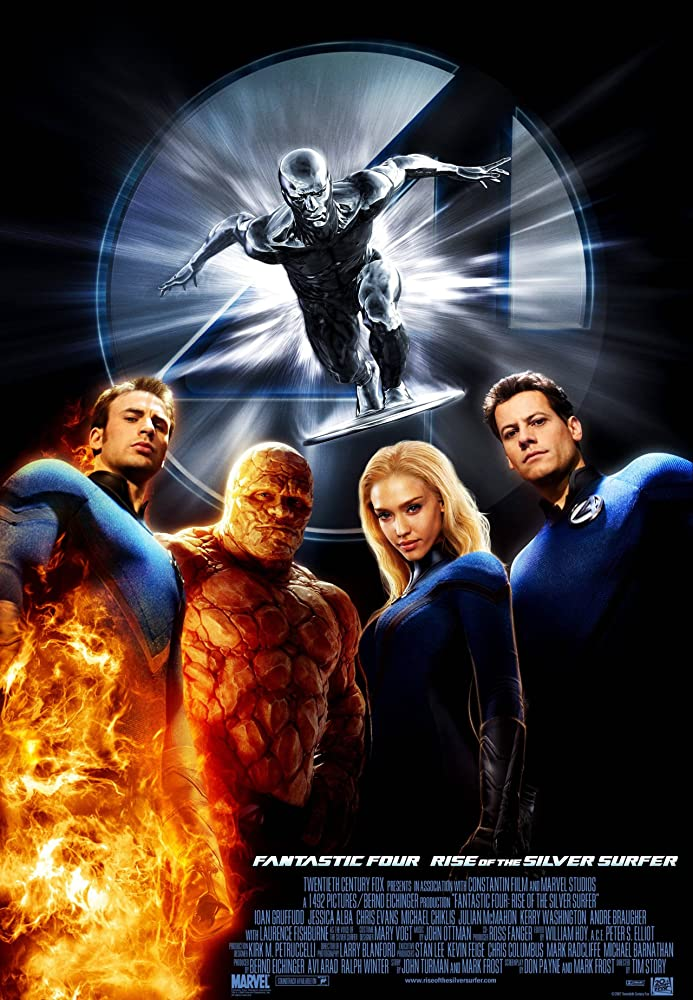 Poster film 'Fantastic 4: Rise of the Silver Surfer' (2007)