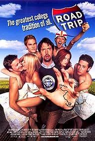 Rachel Blanchard, Breckin Meyer, Seann William Scott, Amy Smart, Paulo Costanzo, Tom Green, and DJ Qualls in Road Trip (2000)