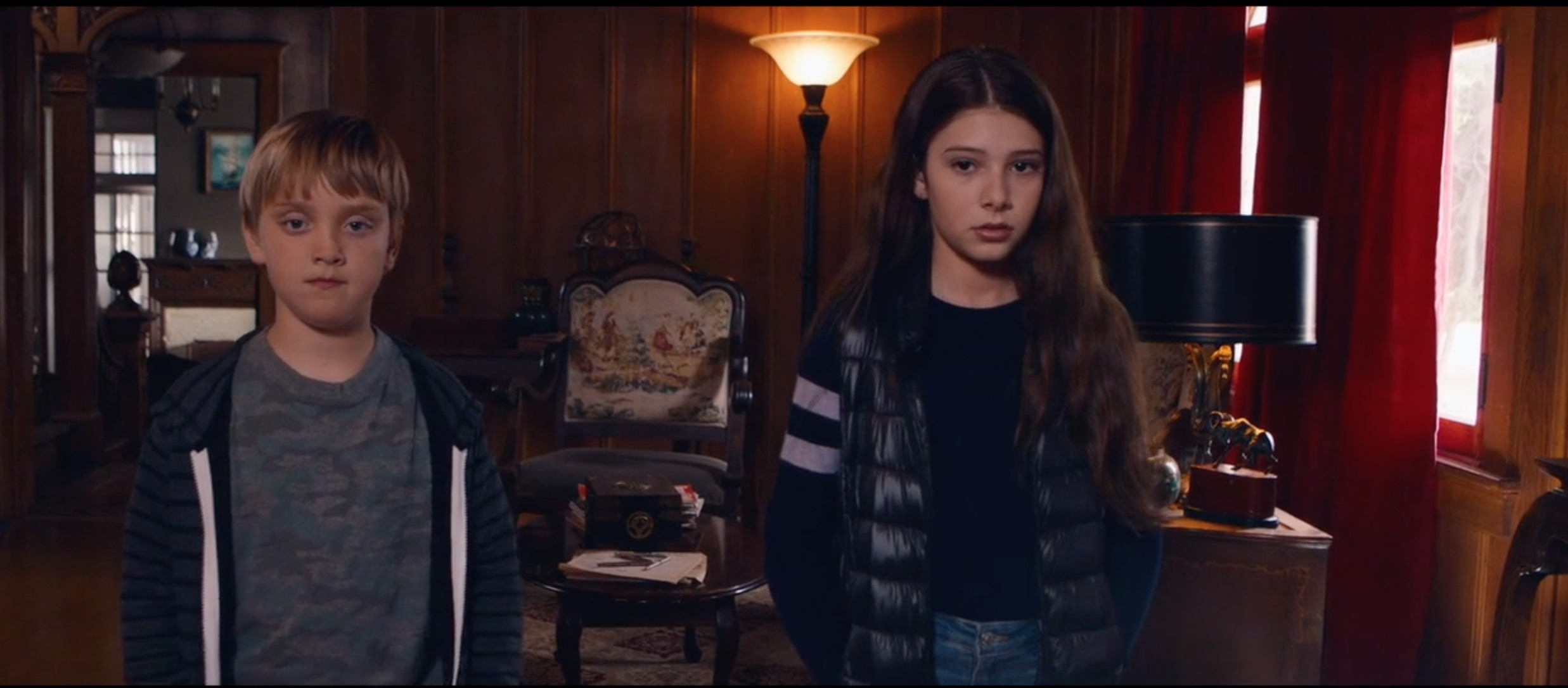 Mackenzie Moss and O'Neill Monaghan in Let Us In (2021)
