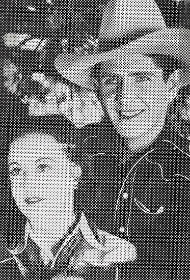 Marie Burton and Bob Steele in Sundown Saunders (1935)