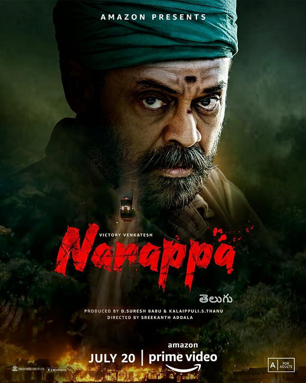 Naarappa 2021 Telugu 720p | 480p AMZN HDRip ESub Download